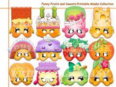 Unique Shopkins Printable Masks party Shopkins by AmazingPartyShop Free Shopkins, Shopkins Bday, Shopkins Printable, Shopkins Guide, 9th Birthday, Birthday Parties, Birthday Ideas, Birthday Cake, Funny Fruit