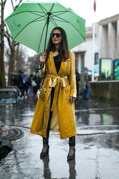 Inspiração de street style: dias de chuva | Layla da Fonseca