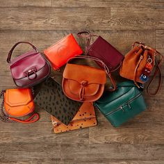 """""""Always match your #handbag to the colors of fall. Tap the link in our bio to shop ! #accessories """""""