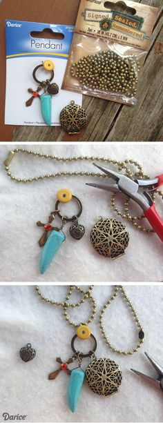 DIY Essential Oil Diffuser Necklaces