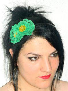 Green Orange head band crown  unique head by emofoFashionDesing, $15.00