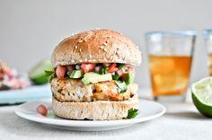 tilapia burgers from @How Sweet Eats
