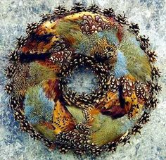 Ringneck Pheasant Feathered Wreath - Miscellaneous / Novelties - Wild About Fowl Taxidermy