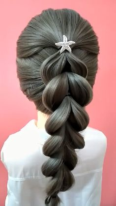 Hairdo For Long Hair, Easy Hairstyles For Long Hair, Up Hairstyles, Braided Hairstyles, Curly Hair, Hair Up Styles, Medium Hair Styles, Hair Videos, Hair Designs