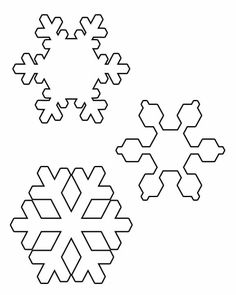 Snowflake Patterns To Cut Out Downbload snowflake template. Snowflake Cut Out Pattern, Snowflake Outline, Paper Snowflake Designs, Snowflake Silhouette, Snowflake Cutouts, Snowflake Template, Snowflakes, Felt Christmas, Christmas Crafts