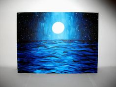 Moonlight Waters.  Acrylic Painting.  https://www.etsy.com/listing/106926049/moonlight-waters-acrylic-painting-on