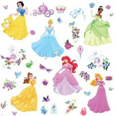 RoomMates RMK1470SCS Disney Princess Peel & Stick Wall Decals with Gems by RoomMates. $9.73. Save 35%!