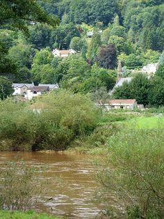The village of Llandogo, Monmouthshire, Wales