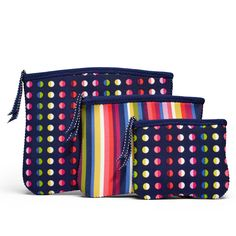 Bolsa Necessáire - The Bryant Park Collection - Conj. com 3 - Dot No. 9 e Stripe No. 9 - Built NY - Cosenonparole  Porta Chupetas  Tem novidades na Cose <3 Bolsinhas, necessaires, case para chapinha e babyliss, linha baby... Tudo bem lindo e colorido para acompanhar o clima do verão!