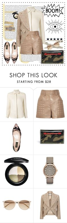 """BOOM! Polyvore is *{Illuminati}*"" by vladoslav ❤ liked on Polyvore featuring moda, Rosetta Getty, Chloé, Valentino, MAC Cosmetics, Marc by Marc Jacobs, Witchery, Leather, valentino e beige"