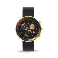 A modern British-designed men's chronograph watch inspired by the lavish opulence of Las Vegas casino culture. Latest Watches, Watches For Men, Black Watches, Leather Watches, Men's Watches, Black Italians, Striped Canvas, Gold Stripes, Stainless Steel Case