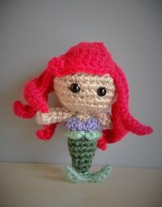 Ariel - The Little Mermaid Disney Amigurumi Crochet. Pattern by Sahrit
