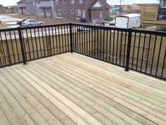 Streetscape Show Home deck and fence