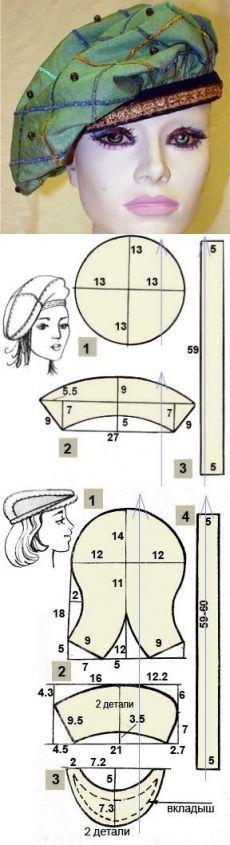 Как сшить берет своими руками   Выкройка берета   Sewing _ clothes _ patterns_Шитье_Одежда_Выкройки   Постила   практичное