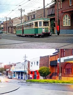 Petersham, Trafalgar St, 1958 > 2015 [N Reed and Stphen Thomas. By Stephen Thomas] Stephen Thomas, Australian People, Train Tunnel, Rail Transport, As Time Goes By, History Photos, Historical Architecture, Scene Photo, Historical Photos