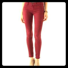 "Free People Maroon Jeans Excellent condition! 30""inseam. Free People Jeans Skinny"