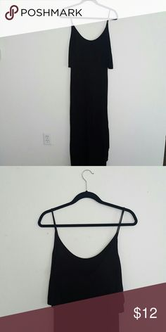 ZARA maxi black dress Shorter on the front and longer in the back. Feel free to ask any questions and make an offer! :) Zara Dresses Maxi