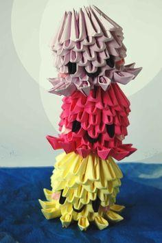 3D Origami Octopuses/Jellyfish by dounyatsu