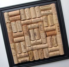 Wine Cork Board with Black Matte Frame by LizzieJoeDesigns on Etsy, $30.00