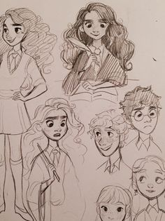 Some Harry Potter doodles from last year