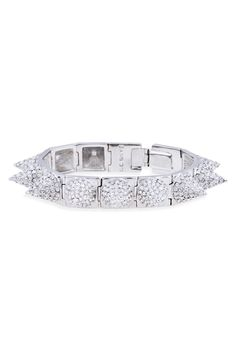 CC Skye Punk Princess Pave Spike Bracelet - Spike up your Uptown look with this edgy bangle!