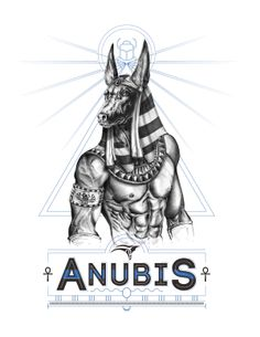 Anubis was a jackal-headed god of the dead. Anubis was a part of the mummification process, and he also weighed the hearts of deceased souls against the feather of Maat in the afterlife; he then determined the soul's worthiness. Egyptian Mythology, Egyptian Symbols, Egyptian Goddess, Egyptian Art, Egyptian Jackal, Ancient Egypt Fashion, Ancient Egypt Crafts, Osiris Tattoo, Anubis Tattoo