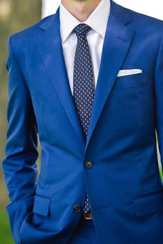 Striking blue suit: http://www.stylemepretty.com/michigan-weddings/2014/09/16/michigan-farm-wedding-full-of-rustic-elegance/ | Photography: Chelsea Brown - http://www.chelseabrownphotography.com/