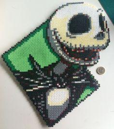 Hama Beads Jack Skellington by MadebyBlackSheep