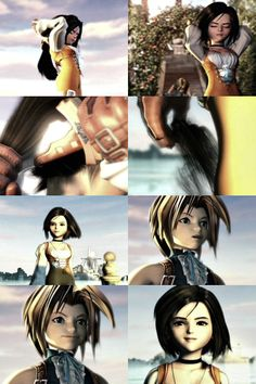 Final Fantasy 9 - Garnet cuts off her hair.
