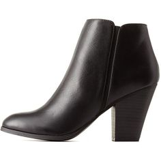 Delicious Delicious Chunky Heel Ankle Booties ($39) ❤ liked on Polyvore featuring shoes, boots, ankle booties, botas, footwear, black, black boots, lug sole booties, black chunky heel booties and black chunky heel boots