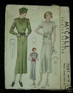 McCall 7687 | ca. 1934 Misses' & Juniors' Dress