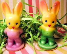 | Vintage Gurley Bunny Candles.