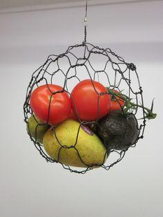 Hanging Fruit or Vegatable Sphere Basket by CharestStudios on Etsy, $48.00
