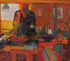 Ingrid Haydon 'Artist's Kitchen' oil on canvas 65x71cm $2400