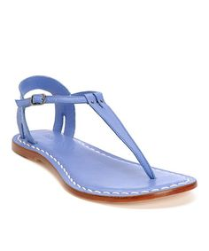 Take a look at this French Blue Leather Madonna Sandal by Bernardo on #zulily today!