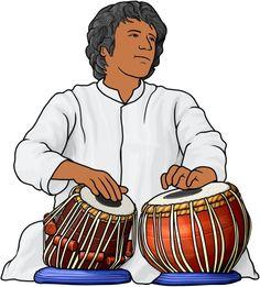 indian drum ... tabla player