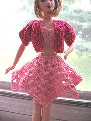 Awww ... my grandma used to make me crocheted clothes for my Barbies!