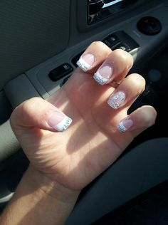 nails for prom! #glitter #nail #acrylic