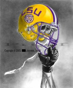 LSU - LOVE the artwork. Makes me want to give something like that a try..