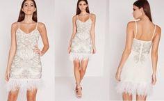 214a00363 Missguided Sukienka Z Piorami 38 6752727065 Oficjalne Archiwum Allegro Fashion Flapper Dress Dresses