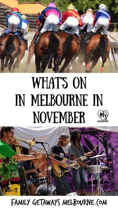 There are plenty of things to do in Melbourne in November, check out this selection for what's on in and around Melbourne. Fill your November calendar with fun filled activities Melbourne Cbd, Family Getaways, Horse Racing, Day Trips, You Can Do, Street Food, Fun Activities, Fun Things, Vintage Cars
