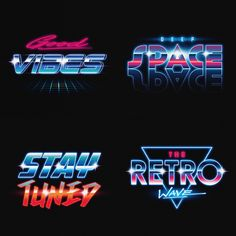 Synthwave typography Art on Behance The Effective Pictures We Offer You About Boats luxury A quality picture can tell you many things. You can find the most beautiful pictures that can be presented to 80s Design, Graphic Design Art, Logo Design, 80s Logo, Logos Retro, Typography Art, Lettering, Photoshop Fonts, Retro Waves