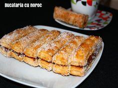 Piscoturi cu nutella - Bucataria cu noroc Noroc, Nutella, French Toast, Breakfast, Simple, Sweets, Morning Coffee