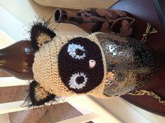 Crocheted Siamese kitty hat