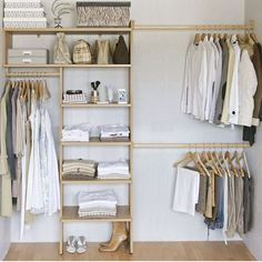 Diy Walk In Closet, Room Closet, Closet Space, Ikea Closet, Closet Curtains, Master Closet, Open Wardrobe, Diy Wardrobe, Wardrobe Design