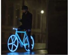 neon bicycle, every time I see these in the commercial I want one so bad!