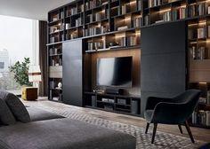 Modern Living Room Set Up 50 Cozy Tv Room Setup Inspirations Living Room Tv, Home And Living, Modern Living, Modern Tv, Modern Luxury, Kitchen Living, Modern Contemporary, Living Spaces, Home Interior