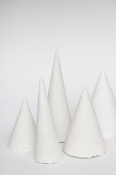 white plaster of paris holiday trees
