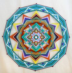 Ring of LIfe, a 36 inch, 12-sided, Ojo de Dios mandala, by custom order