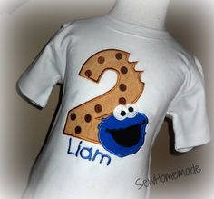 Cookie Monster Birthday Shirt  Cookie Monster Shirt by soohomemade, $18.00